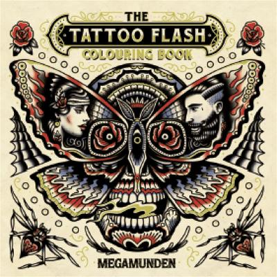 Tattoo Flash Colouring Book by Megamunden