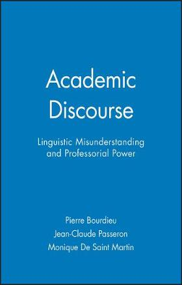 Academic Discourse by Pierre Bourdieu