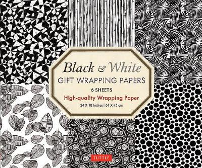 Black & White Gift Wrapping Papers - 6 sheets by Tuttle Publishing