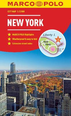 New York Marco Polo City Map 2018 - pocket size, easy fold, New York street map by Marco Polo