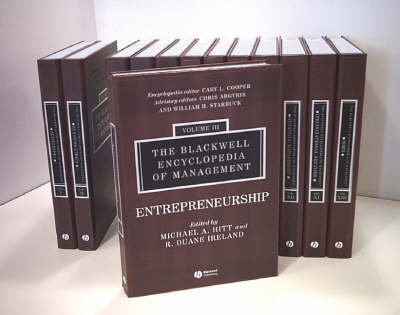 The Blackwell Encyclopedia of Management: 12 Volume Set by Cary L. Cooper