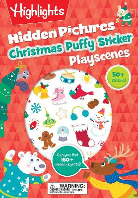 Christmas Hidden Pictures Puffy Sticker Playscenes book