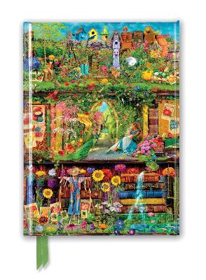 Aimee Stewart: Garden Bookshelves (Foiled Journal) by Flame Tree Studio