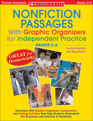 Nonfiction Passages with Graphic Organizers for Independent Practice: Grades 2-4 book
