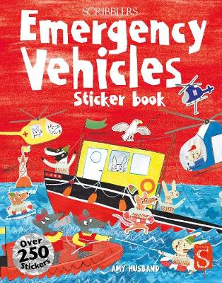 Scribblers Fun Activity Emergency Vehicles Sticker Book by Margot Channing