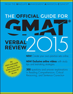 The Official Guide for GMAT Verbal Review 2015 by Graduate Management Admission Council (GMAC)