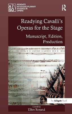 Readying Cavalli's Operas for the Stage book
