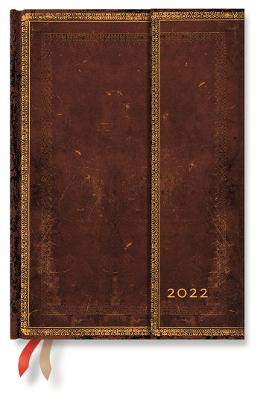 2022 Sierra, Midi, (Week at a Time) Verso Diary: Hardcover, Verso Layout, 100 gsm, wrap closure book