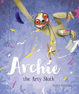 Archie the Arty Sloth by Heath McKenzie