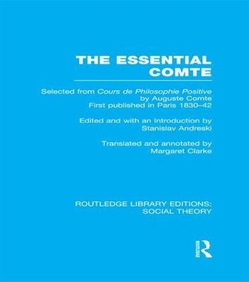 Essential Comte by Stanislav Andreski