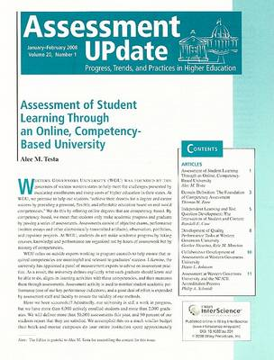 Assessment Update Volume 20, Number 1, January-february 2008 by Trudy W. Banta