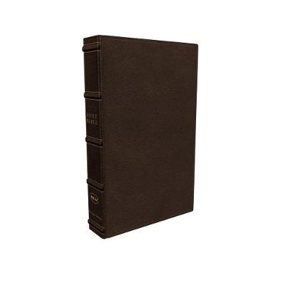NKJV, Large Print Verse-by-Verse Reference Bible, Maclaren Series, Genuine Leather, Brown, Comfort Print: Holy Bible, New King James Version by Thomas Nelson
