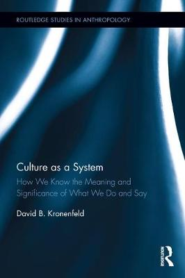 Culture as a System book