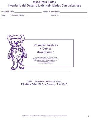 Macarthur Communicative Development Inventories (Cdis)  Inventario I: Primeras Palabras y Gestos (Package of 25) book