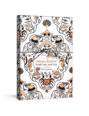 Johanna Basford Land, Sea, and Sky: Three Colourable Notebooks by Johanna Basford
