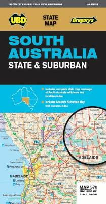 South Australia State & Suburban Map 570 29th ed by UBD Gregory's
