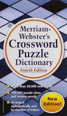 Merriam Webster's Crossword Puzzle Dictionary by Merriam-Webster Inc.