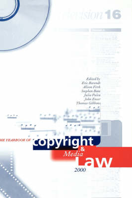 Yearbook of Copyright and Media Law: Volume V, 2000 by Professor Eric Barendt