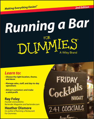 Running a Bar For Dummies book