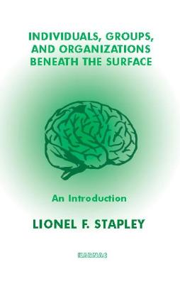 Individuals, Groups and Organizations Beneath the Surface by Lionel F. Stapley