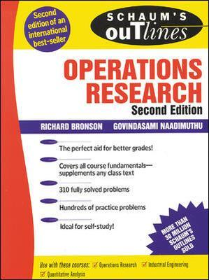 Schaum's Outline of Operations Research by Govindasami Naadimuthu