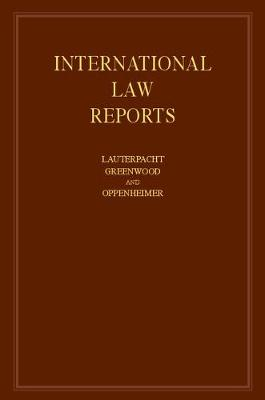 International Law Reports by Elihu Lauterpacht
