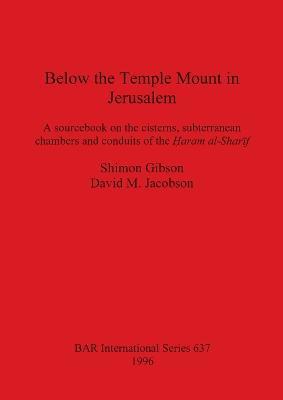 Below the Temple Mount in Jerusalem by Shimon Gibson