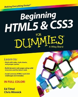 Beginning Html5 & Css3 for Dummies by Ed Tittel