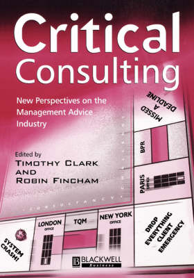 Critical Consulting by Timothy Clark