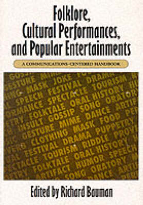 Folklore, Cultural Performances and Popular Entertainments book