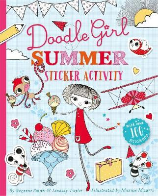 Doodle Girl Summer Sticker Activity by Lindsay Taylor