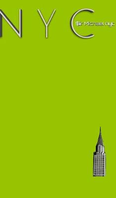 NYC Chrysler building chartruce grid style page notepad Michael Limited edition by Sir Michael Huhn