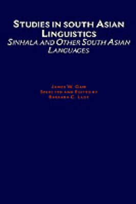 Studies in South Asian Linguistics by Barbara C. Lust