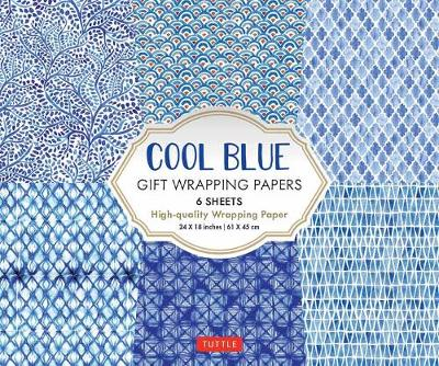 Cool Blue Gift Wrapping Papers: 6 Sheets of High-Quality 24 x 18 inch Wrapping Paper book