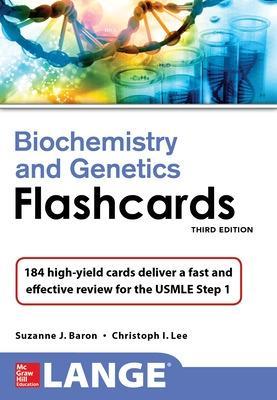 Lange Biochemistry N Genetics Flshcrds by Suzanne Baron