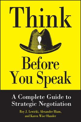 Think Before You Speak book