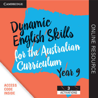 Dynamic English Skills for the Australian Curriculum Year 9 3 year subscription: A multi-level approach book