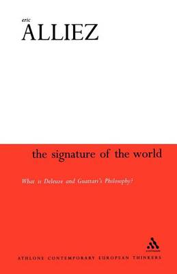 The Signature of the World by Eric Alliez