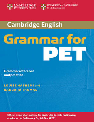 Cambridge Grammar for PET without Answers book