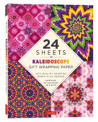 24 sheets of Kaleidoscope Gift Wrapping Paper: High-Quality 18 x 24