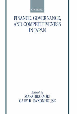 Finance, Governance, and Competitiveness in Japan book