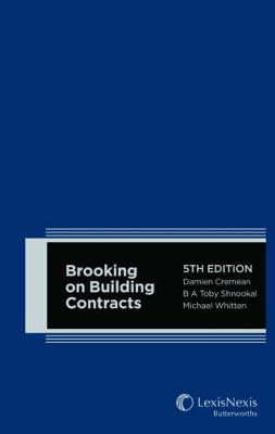 Brooking on Building Contracts book