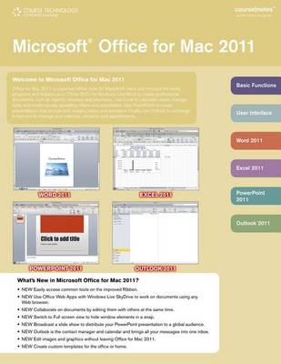 Microsoft Office 2011 for Mac CourseNotes by Course Technology