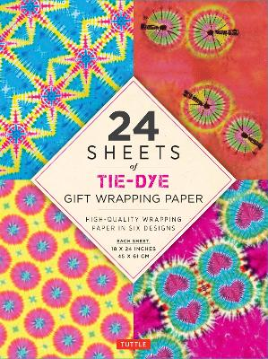 """24 sheets of Tie-Dye Gift Wrapping Paper: High-Quality 18 x 24"""" (45 x 61 cm) Wrapping Paper by Tuttle Publishing"""