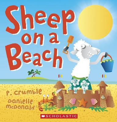 Sheep on a Beach by P. Crumble