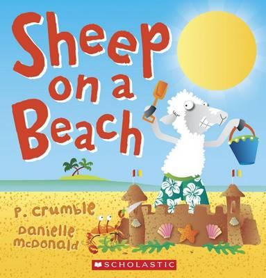 Sheep on a Beach by P. Crumble