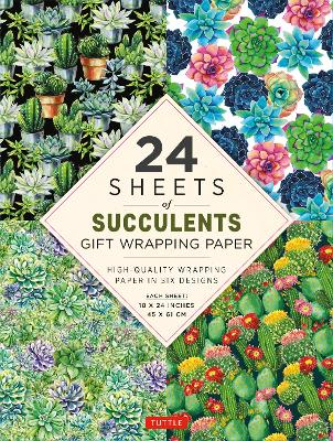 """Succulents Gift Wrapping Paper - 24 sheets: High-Quality 18 x 24"""" (45 x 61 cm) Wrapping Paper by Tuttle Publishing"""