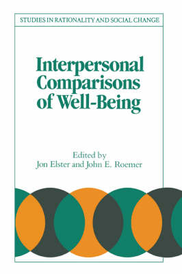 Interpersonal Comparisons of Well-Being by Jon Elster