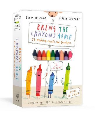 Bring the Crayons Home: A Box of Crayons, Letter-Writing Paper, and Envelopes by Drew Daywalt