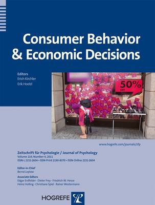 Consumer Behavior and Economic Decisions by Erich Kirchler